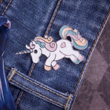 pastel unicorn enamel pin galloping my little pony brooch lapel metallic silver backing harajuku japan fashion by kawaii babe