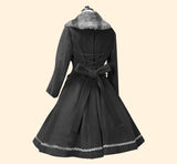 Lolita dress coat winter warm jacket mori girl traditional japan fashion kawaii babe