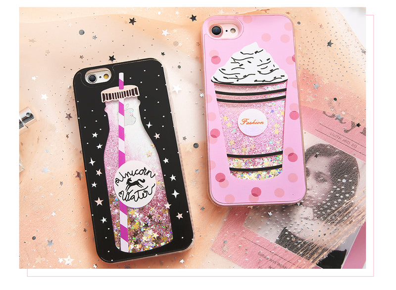 premium selection 6c93a 2efe5 3D Glitter Coffee Phone Case Soft Rubber iPhone Starbucks Kawaii Babe
