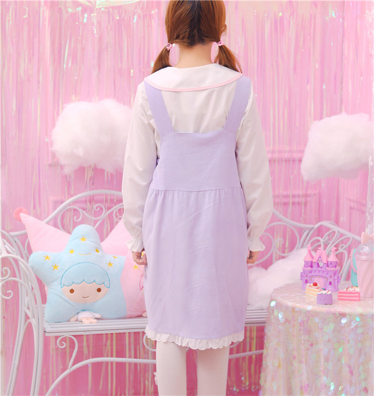 pastel fairy kei jumper dress suspender straps overalls romper skirt pastel kei fairy kei aesthetic littlespace ddlg cgl age regression outfit by kawaii babe