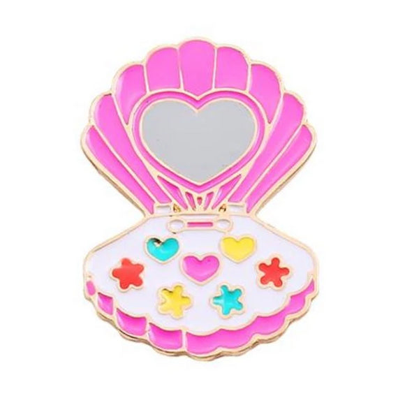 Retro Eyeshadow Compact Pin