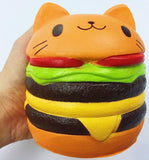 kawaii face junk food burger and fries squeeze toys squishy soft autistic stimming neko cat hamburgers little space cgl age regression by ddlg playground