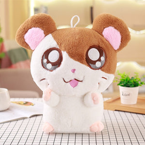 hamtaro hamster plush soft stuffed animal toy kawaii mouse anime eyes face stuffies cute kawaii babe