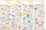 fairy kei jewel sticker sheet milky way galaxy gemstones enchanted kingdom sticker sheet decoration by kawaii babe