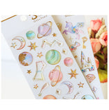 Milky Galaxy Stickers