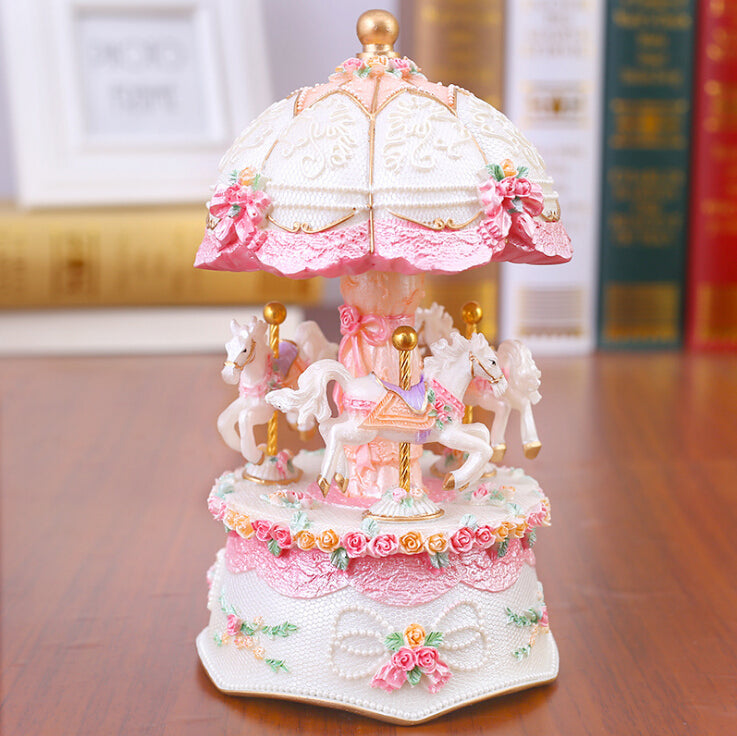 Light Up Carousel Music Box