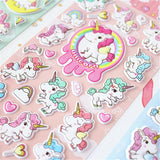 kawaii magical unicorn  3d sticker sheet puffy my little pony stickers alpacasso 3 dimensional decoration stationary by kawaii babe