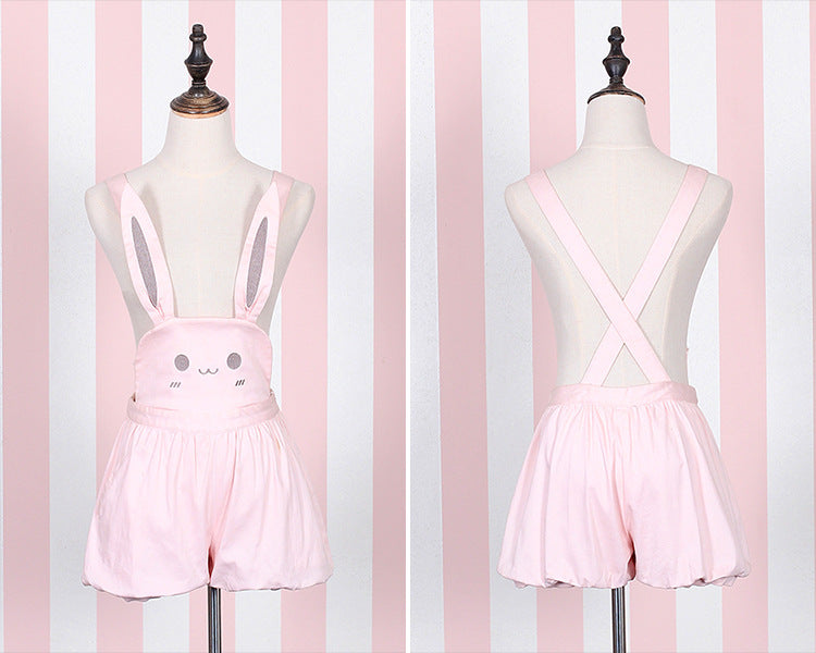 58e13a81063 ... Pink bunny rabbit jumper dress pleated skirt dunagrees little space  ddlg abdl cgl cglre age regression ...