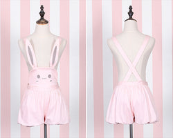 Pink bunny rabbit jumper dress pleated skirt dunagrees little space ddlg abdl cgl cglre age regression kawaii fashion outfit