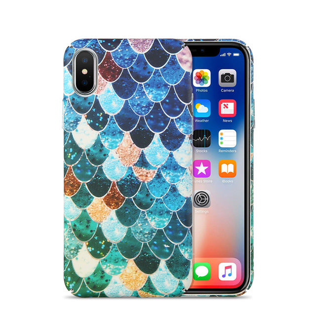 mermaid fish scale iphone case phone cases for android and apple iphones magical aquatic rainbow holographic granite shimmer by kawaii babe