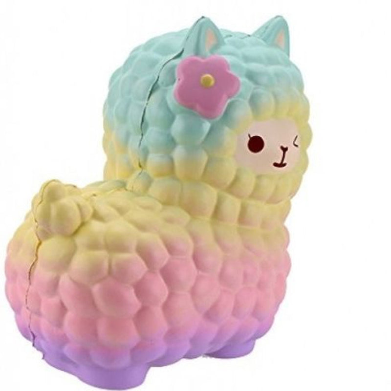 rainbow alpaca squeeze toy alpacasso stress ball stress relief autism stim stimming kawaii fairy kei by kawaii babe