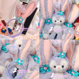 purple bunny rabbit headband stellalou disney japan disneyland duffy bear kawaii fashion harajuku jfashion by Kawaii Babe