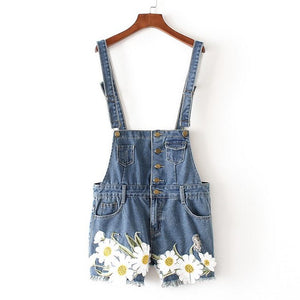 plus size daisy jean romper dungarees jumper denim shorts suspender straps coveralls overalls extra large cute kawaii harajuku japan fashion by kawaii babe