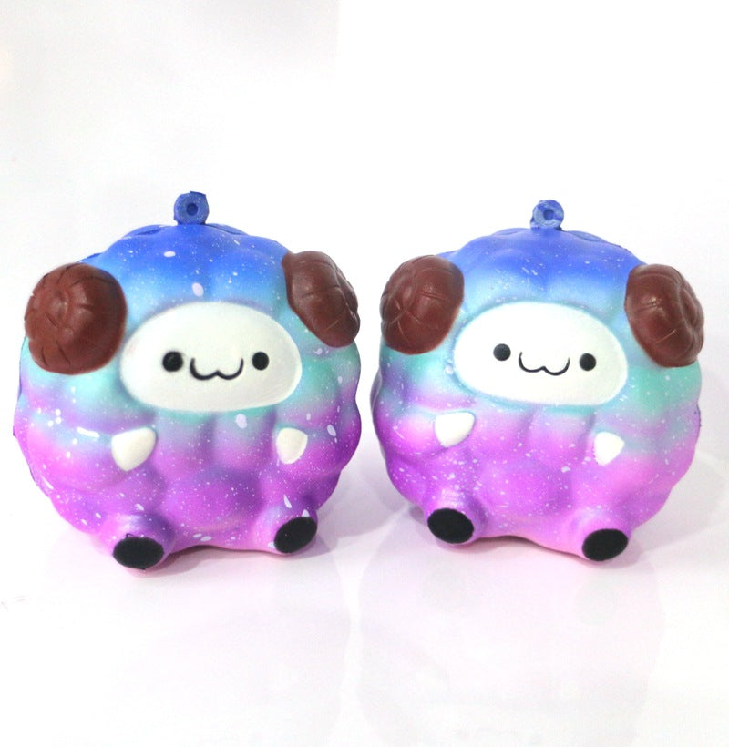 galaxy sheep baby llama alpaca squeeze toy stress ball stress relief autism stim stimming kawaii fairy kei autistic toys by kawaii babe