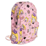 chibi sailor moon magical girl card captor sakura backpack book bag pink kawaii print anime cosplay harajuku japan fashion by kawaii babe