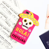black mask and sugar skull mexican desert 3d rubber iphone case protector cover phone cases by kawaii babe
