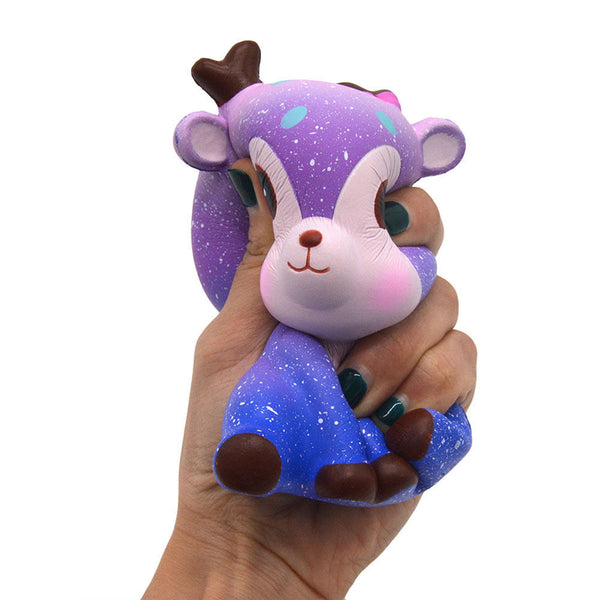 galaxy reindeer baby Deer squeeze toy stress ball stress relief autism stim stimming kawaii fairy kei autistic toys by kawaii babe