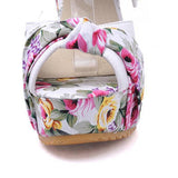 floral spring flower platform wedge sandals with ribbon ankle wrap strap wedgies heels harajuku japan fashion by kawaii babe