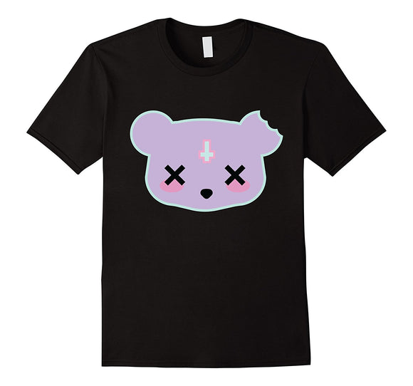 Creepy cute satanic panda bear teddy cookie t-shirt tee top pastel goth gothic fairy kei short sleeved by kawaii babe