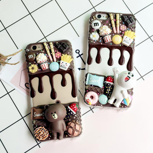 3D Decoden Chocolate Phone Case