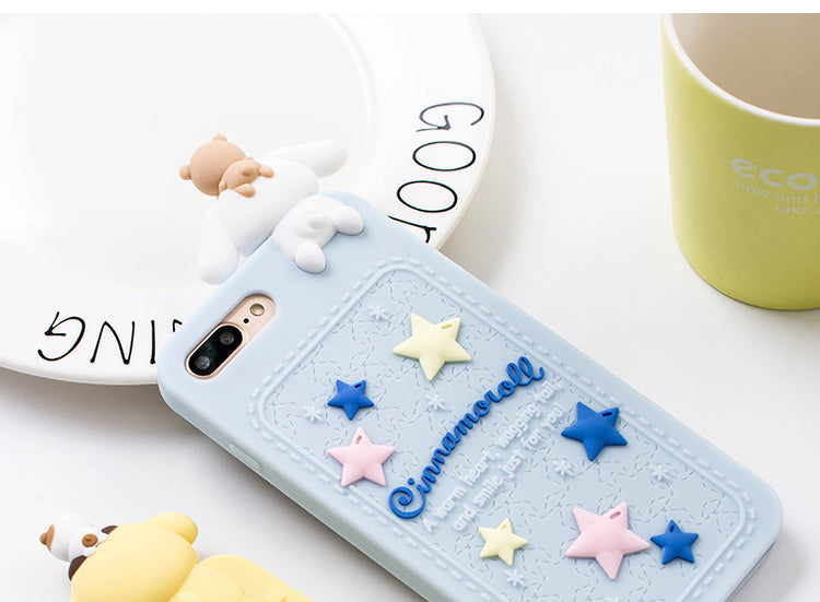 3d rubber sanrio iphone cases blue cinnamoroll bunny silicone bendy shock proof harajuku japan fashion by kawaii babe