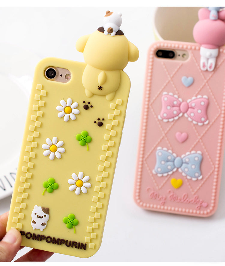 3d rubber sanrio iphone cases yellow pompompurin dog silicone bendy shock proof harajuku japan fashion by kawaii babe