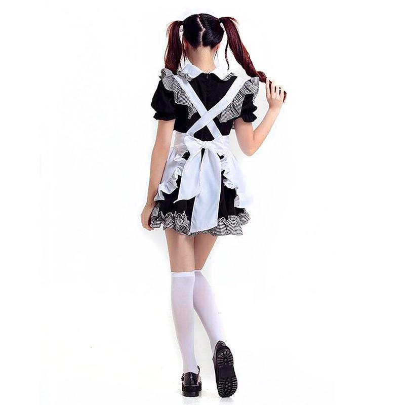French Maid Costume Cosplay Outfit Halloween KInk Fetish Sexy Maiden