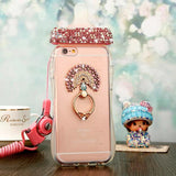 Rhinestone Glitter Baby Bottle Shaped iPhone Phone Case Cover Protector Soft Clear 3D Rubber TPU Peacock Charm CGL DDLG ABDL
