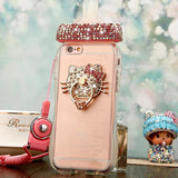 Rhinestone Glitter Baby Bottle Shaped iPhone Phone Case Cover Protector Soft Clear 3D Rubber TPU Hello Kitty Charm CGL DDLG ABDL