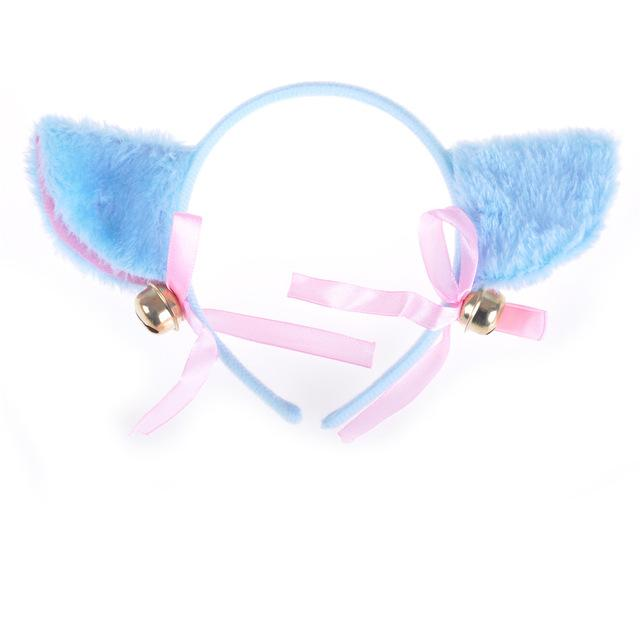 Furry Cat Ear Headband Neko Pet Play Cosplay Ears
