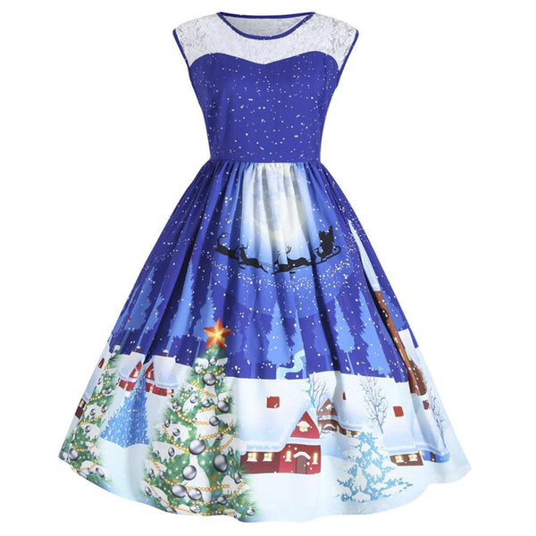 Festive Lace Christmas Dress