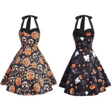 Pumpkin Jack-O-Lantern Halloween Dress Spooky Creepy Cute Fashion