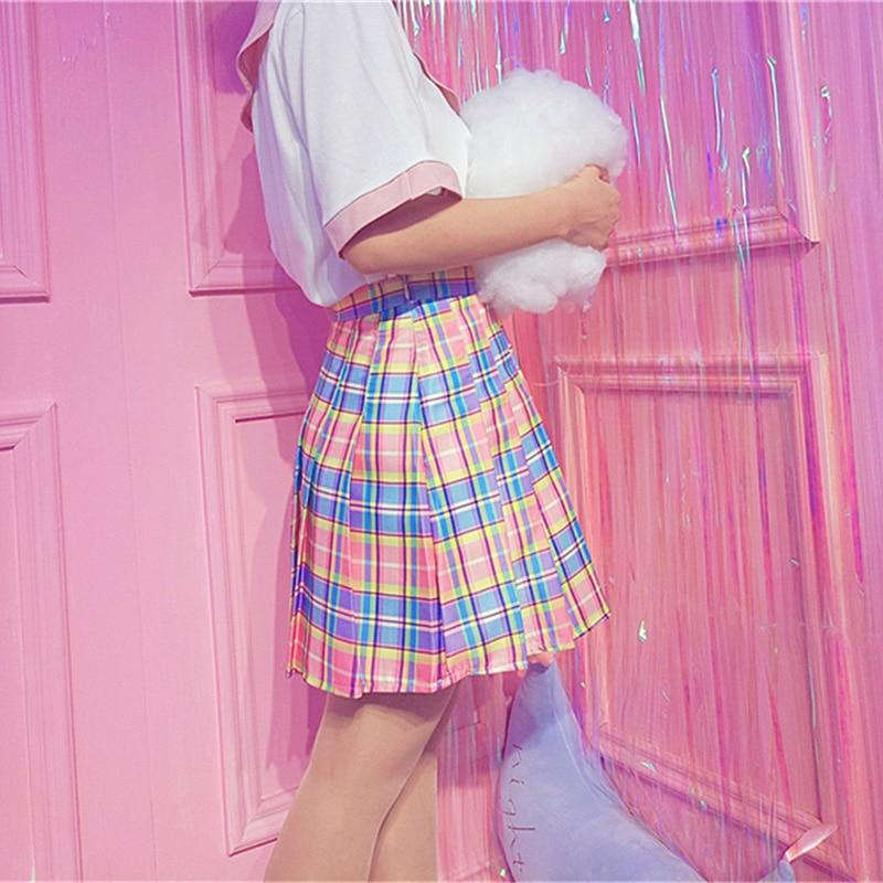 Candy Plaid Skirt