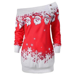 Off The Shoulder Santa Sweater