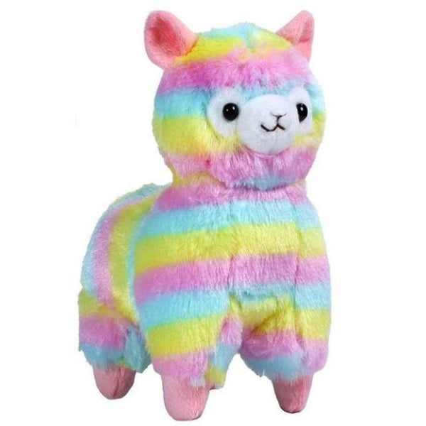 Rainbow Alpaca Plush Toy Soft Keychain Stuffed Animal Alpacasso Llama Kawaii