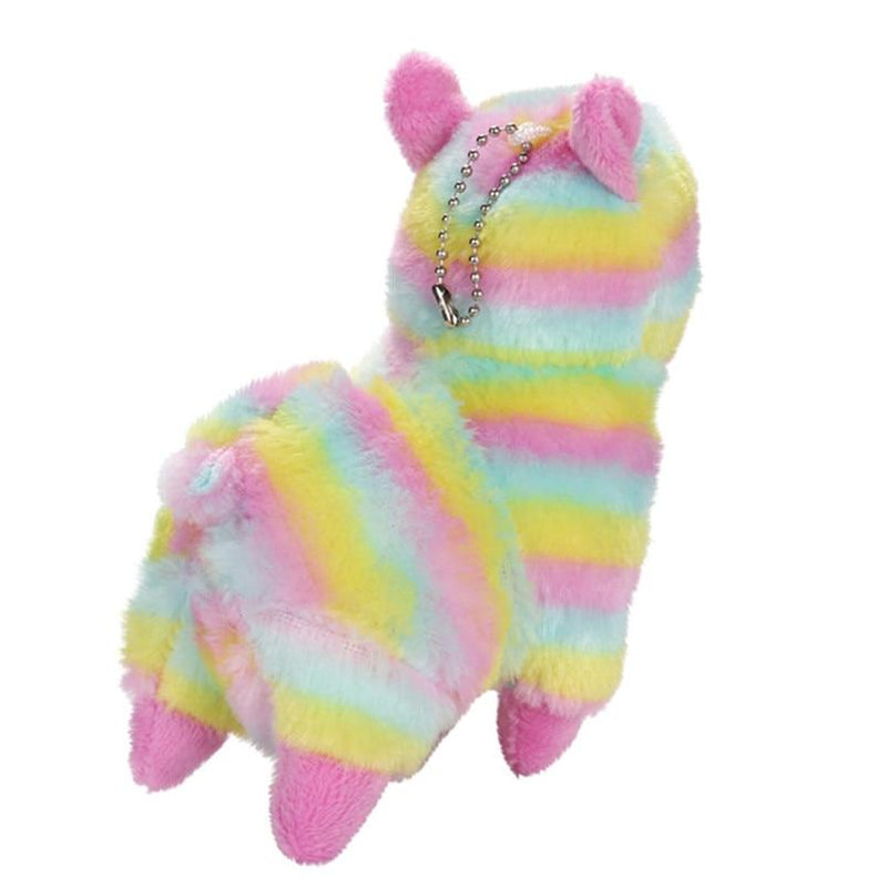 Rainbow Alpaca Plush Toy Soft Keychain Stuffed Animal Alpacasso Llama Kawai