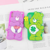 Care Bear 3D Rubber iPhone Case Apple Phone Cases Kawaii Cute