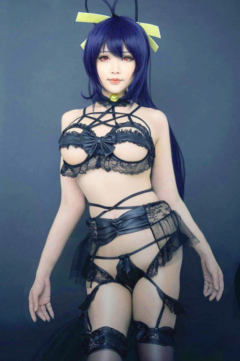 Devil Lingerie Set Bat Wing Garter Belt Fetish Kink Anime Gothic Pentagram Witch Sexy Underwear Intimates