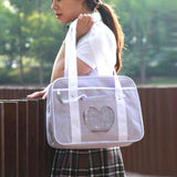 Pastel Purple Heart Handbag Duffle Messenger Bag Cute Harajuku Kawaii Fashion Fairy Kei