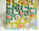 kawaii alpaca llama 3d sticker sheet puffy stickers alpacasso 3 dimensional sticker sheets decoration stationary by kawaii babe