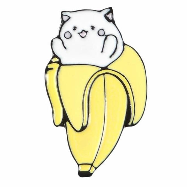Banana Cat Bananya Enamel Pin Lapel Brooch Kawaii Cute Accessories