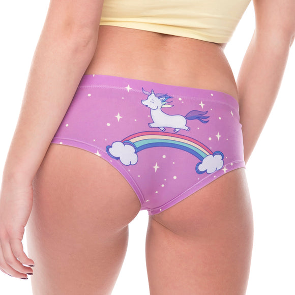 purple magical unicorn full brief underwear panties lingerie cheeky sexy harajuku japan fashion by kawaii babe