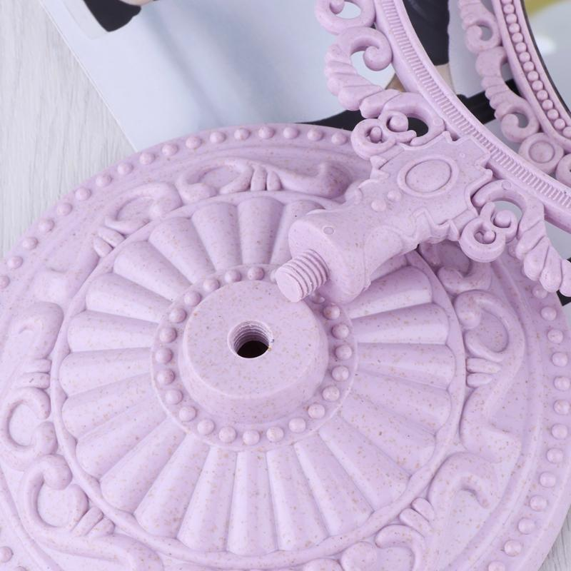 Purple Pastel Heart Make-Up Mirror Cosmetic Dual Sided Kawaii Fairy Kei
