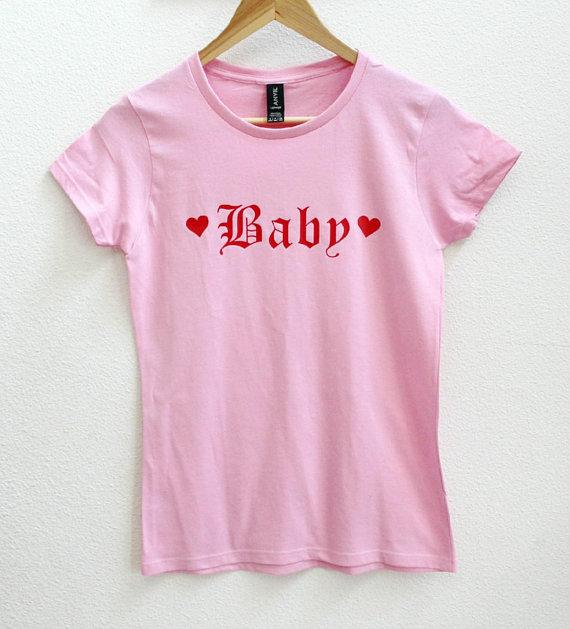 Pink Baby T-Shirt Babydoll Tee Ageplay Regression by DDLG Playground