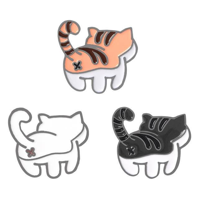 Kitten Bum Enamel Pins