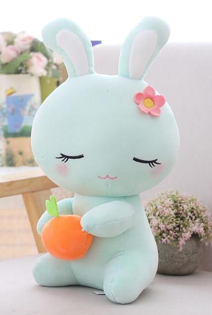Blue Carrot Sleepy Bunny Plush Baby Bun Rabbit Stuffed Animal ABDL Ageplay