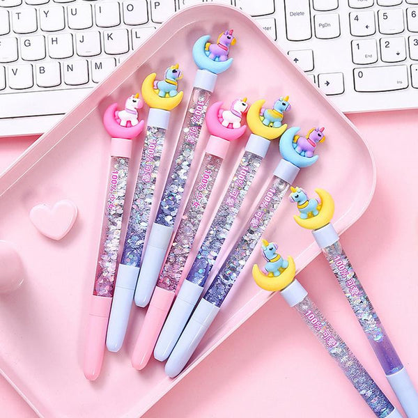 Glitter Milk Pastel Gel Pens Unicorn Kawaii Fairy Kei Stationary