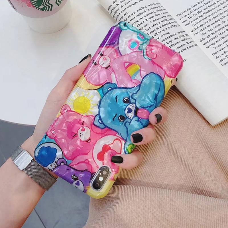 Glitter Holographic Apple iPhone Case Phone Cover Protector Cute Rainbow Kawaii