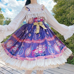 Purple Pirate Lolita Dress - carousel, dress, dresses, jsk, jsk dress
