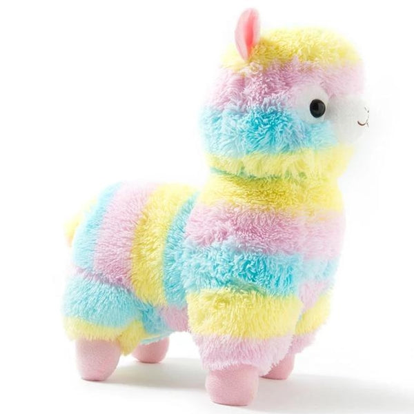 Rainbow Alpaca ALpacasso Kawaii Stuffed Animal Plush Plushie Kawaii Kidcore Toywave Pastel Fairy Kei